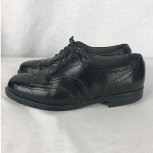 Nunn Bush Mens 9.5M Black Lace Up Wing Tips Shoes